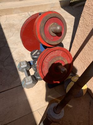 OLYMPIC Weights/Rack/Bar and more for Sale in San Diego, CA
