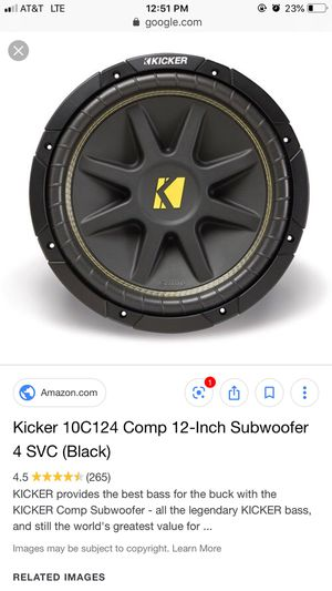 """Kicker comp C """"12 for Sale in San Diego, CA"""
