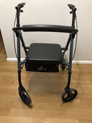 Nova light weight with seat storage new walker with reflector/ brakes. $150 for Sale in Fresno, CA