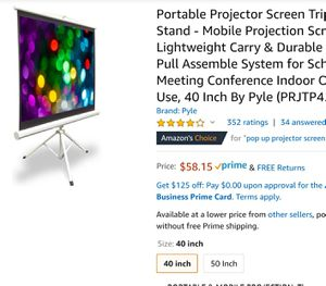 Projector screen 42 inch for Sale in Raymore, MO