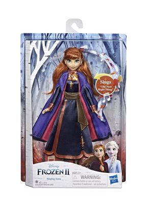 Disney Frozen 2 Singing Anna Fashion Doll with Music Wearing a Purple Dress for Sale in Las Vegas, NV