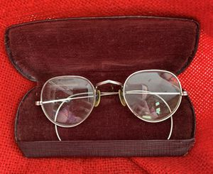 Vintage Silver Spectacles! Antique Bifocal Glasses with Case! for Sale in Canyon Country, CA