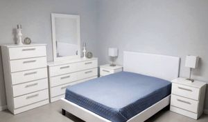 New 6 pieces Queen bed frame mirror dresser chest and nightstands mattress is not included for Sale in Hialeah, FL