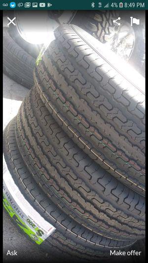 225 75 15 $250 trailer tires set of 4 for Sale in Phoenix, AZ