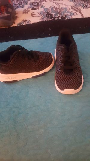 New black shoes Adidas size 5 1/2 for Sale in Pomona, CA