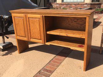 Oak computer desk cabinet hutch for Sale in Huntington Beach,  CA