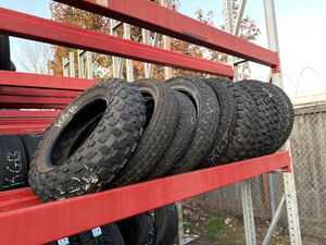 Street tires and Dirt bike tires, don't ask the size come take them, $60!takes them all for Sale in Puyallup, WA