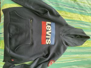 Navy Blue Levi's Logo Hoodie for Sale in Plant City, FL