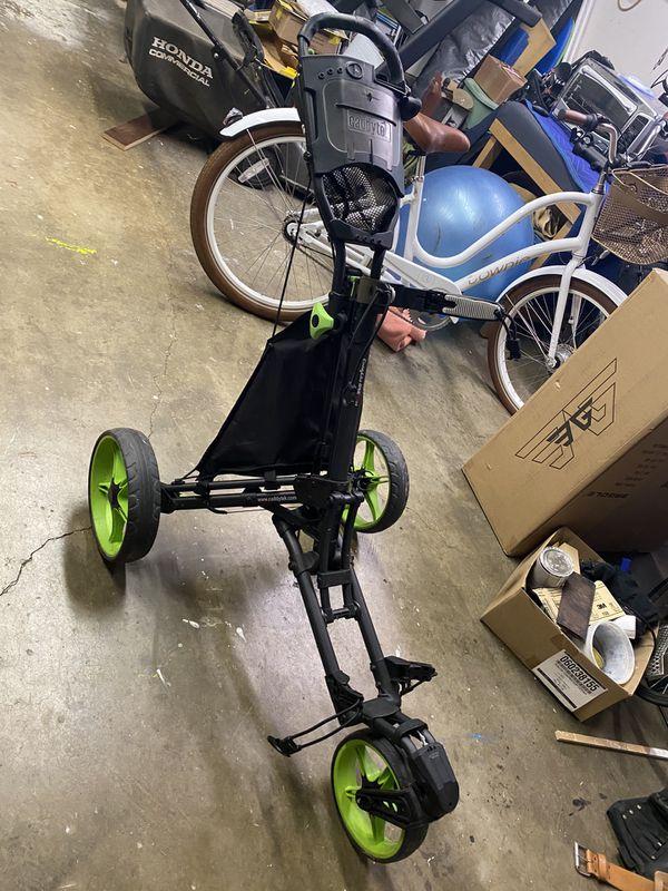 Caddytek🔥3-Wheel Swivel🔥1-Click Fold🔥Golf Push Cart