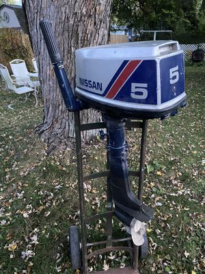 Nissan outboard motor as is as seen for Sale in McHenry, IL