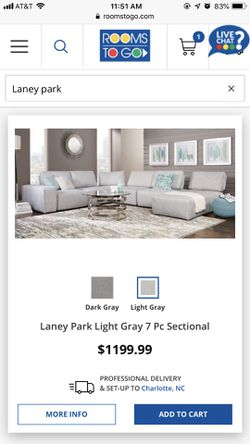 Laney Park Retractable Sectional 4 piece for Sale in Acworth,  GA