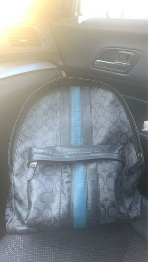 Coach authentic blue and black backpack for Sale in Glendale, CA
