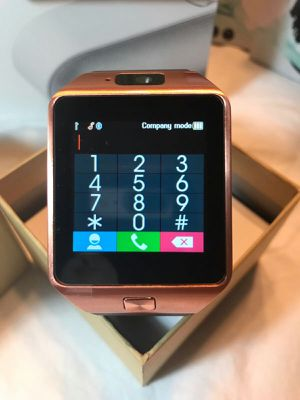 Brand new smartwatch with camera unlocked touchscreen hands free calls works with Android or ios for Sale in Davie, FL