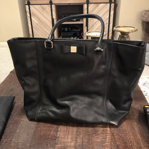 Kate Spade Black Leather Diaper Bag Tote for Sale in Newnan, GA