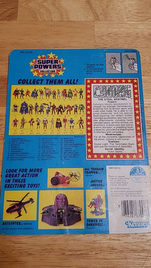 Vintage kenner super powers cyborg backer card VERY RARE for Sale in Spring Valley, CA