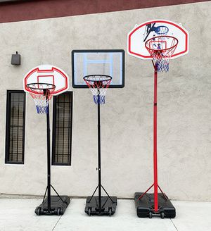 (New in box) Kids Junior Basketball Hoop Adjustable Height (3 Sizes: Small $45, Medium $65, Large $75) for Sale in Whittier, CA