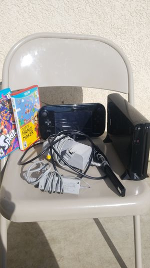 Nintendo Wii U black 32GB for Sale in Riverside, CA