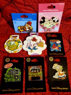 Tokyo Disney Theme Park Resort Exclusive Pins for Sale in Los Angeles, CA