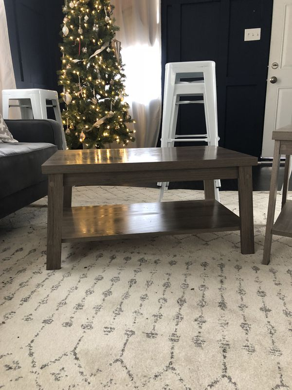 Matching coffee and side tables