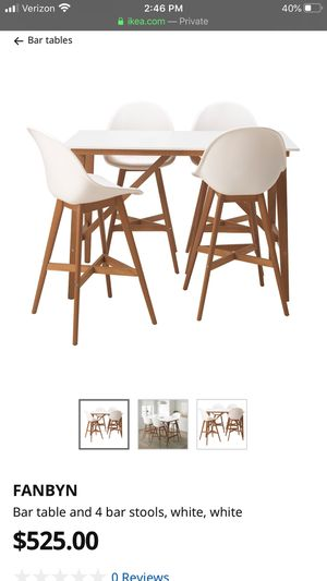 IKEA Fanbyn dining table stand up desk bar table and chairs for Sale in Lake Forest, CA