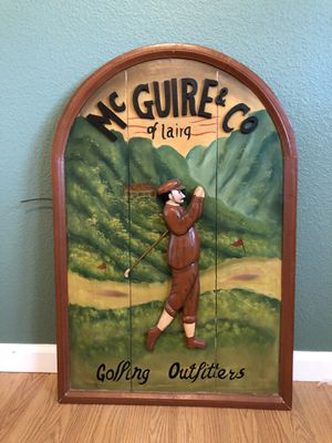 Antique handmade golfing outfitters sign! for Sale in Fresno, CA