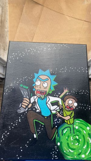 Rick & Morty Portal Custom Painting for Sale in Jacksonville, FL