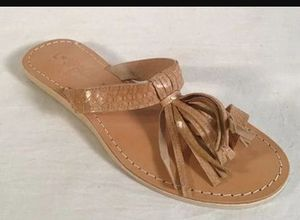 L SPACE Tan Snake Fringe Toe Sandals 8.5 for Sale in Beverly Hills, CA