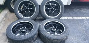 4 20 in 6x114.3 wheels rims and tires for Sale in Rockville, MD