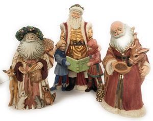 Vintage Santa clause, set of 3, ceramic for Sale in Anna, TX