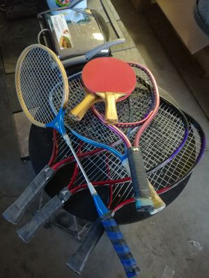 Tennis racket s / ping pong paddle s / badminton rackets for Sale in Phoenix, AZ