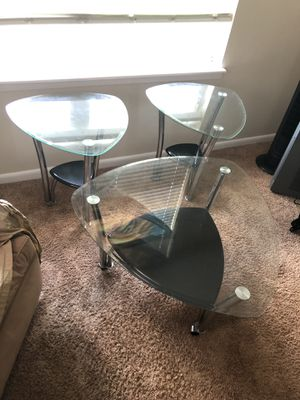 3 Glass Coffee/End Tables for Sale in Tampa, FL