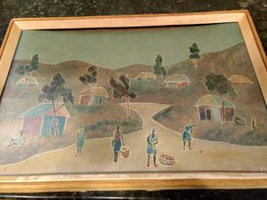 Orginal Haitian Painting by Fritz Lamothe for Sale in US