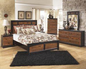 Aimmmmwell Dark Brown Panel Bedroom Set for Sale in Fairfax, VA