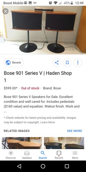 Bose 901 series v with amp for Sale in Monroeville, PA