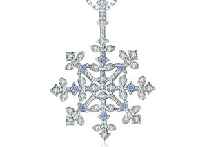 Spinel Snowflake Pendant Necklace 925 Sterling Silver for Sale in Wichita, KS