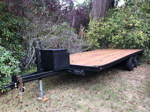 Flat bed trailer car hauler quad trailer jeep trailer for Sale in Auburn, WA