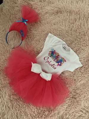 Custom design and troll birthday outfits etc for Sale in Monroe, MI
