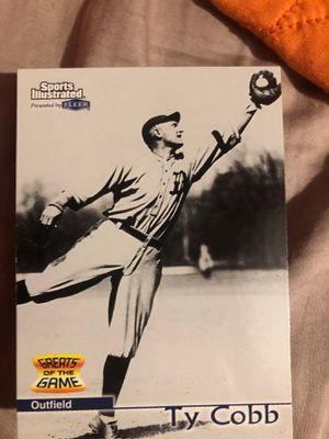 Ty Cobb baseball card sports illustrated stats through 1905-1928 Has card cover for Sale in Greer, SC