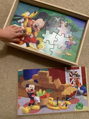 Wooden Puzzles in a box (8 pictures) for Sale in Bethesda, MD