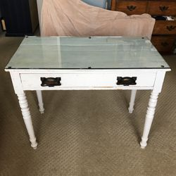 Antique Desk With Glass Top for Sale in Huntington Beach,  CA