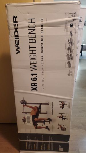 Weider XR 6.1 Multi-Position Weight Bench with Leg Developer and Exercise Chart for Sale in Verona, WI