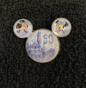 Disney Pin #210, Disneyland Resort, 60th Anniversary, Diamond Celebration Mickey & Minnie Mouse Ears for Sale in San Diego, CA