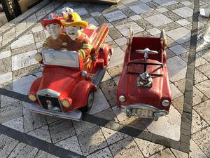 Fire truck cookie jar and flower pot for Sale in Camarillo, CA