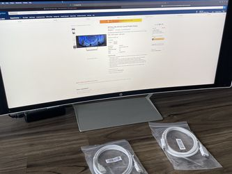 HP Ultrawide 34c Computer Monitor - Curved Display, for Sale in Arlington,  VA