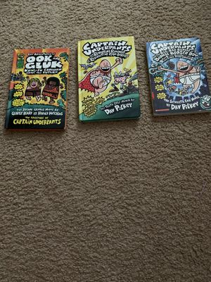 Books, 3 captain underpants books, two hard covered, good condition for Sale in Arlington, VA