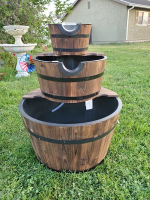 New barrel fountain brand new for Sale in Rancho Cucamonga, CA