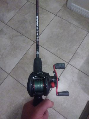 Brand New Abu Garcia blackmax 6 1/2 foot pole with accessories! for Sale in Tampa, FL