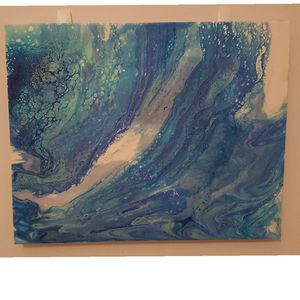 """Splash ; 16""""x20"""" canvas fluid painting for Sale in Apex, NC"""
