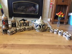 Tom and Jerry set. Vintage 1940s. German beer steins. Vintage 1940. Both came directly from Germany. for Sale in Missoula, MT