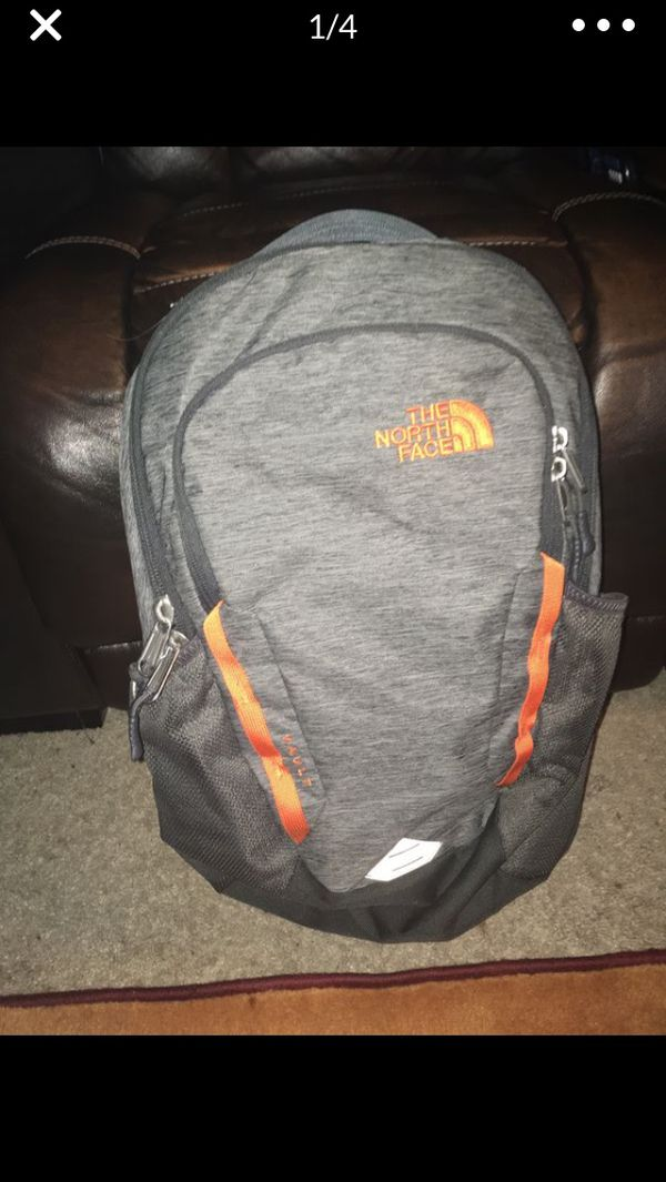 The North Face Vault Backpack, Gray/Orange 17 x 19 (inches)